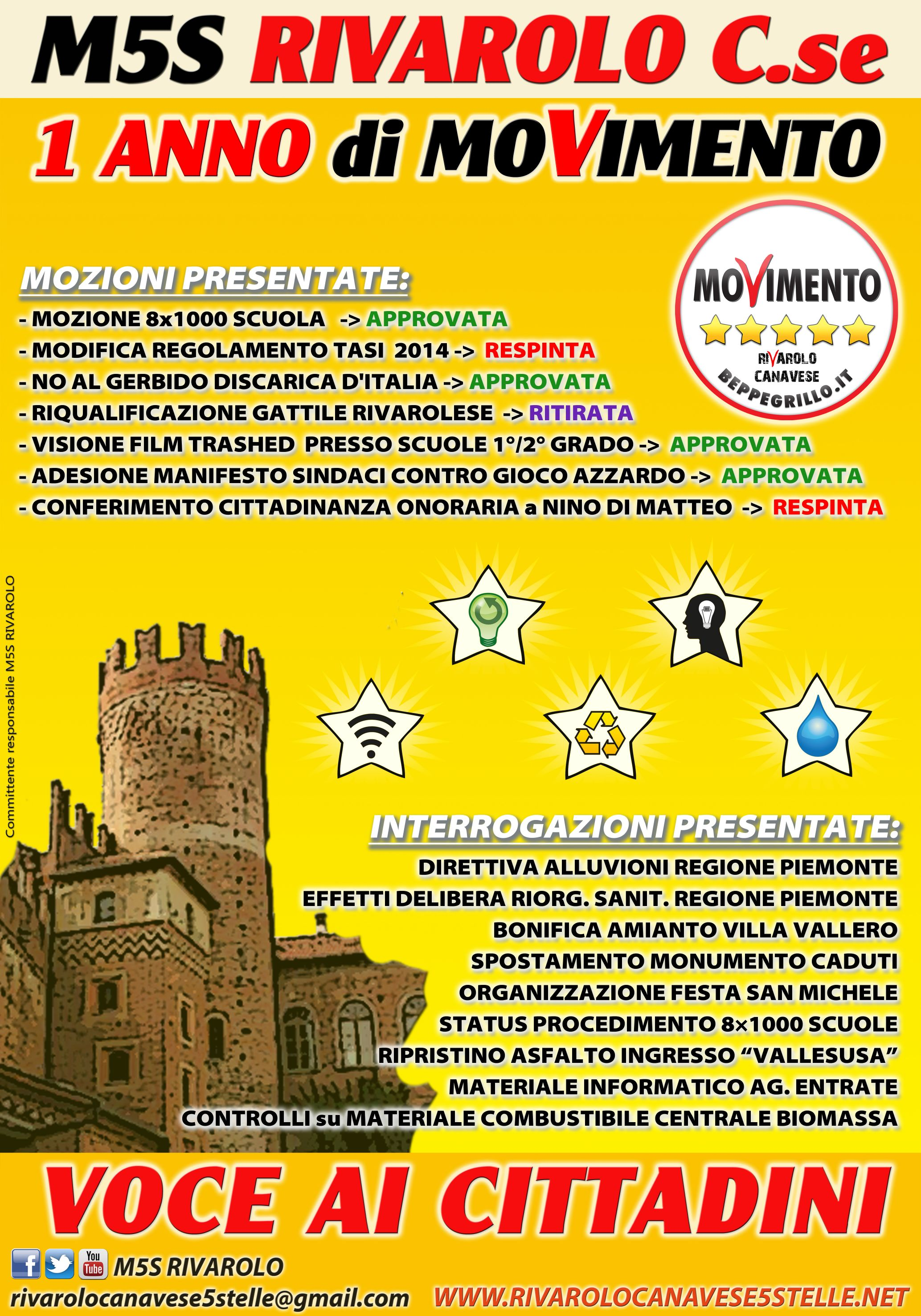 Rivarolo canavese 5 stelle blog di riferimento del for Numero parlamentari 5 stelle