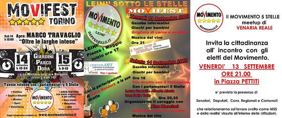 Movifest piemonte feste del m5s in piemonte rivarolo for Numero parlamentari m5s