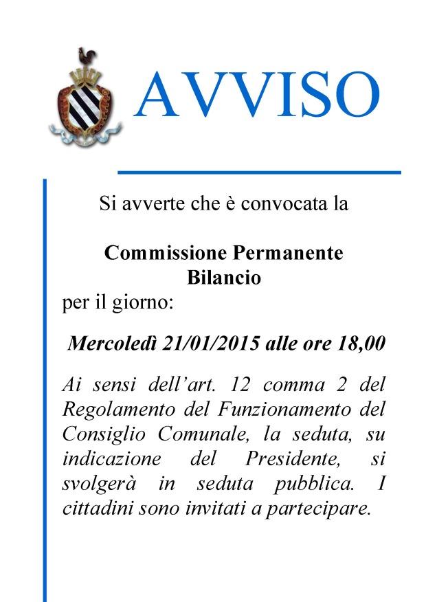 avviso - CONV.COMM.BILANCIO.21.1.15